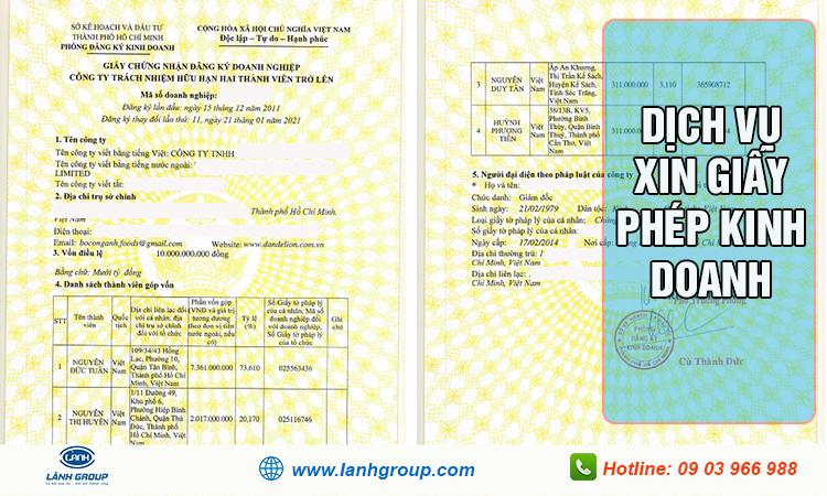Dịch vụ xin giấy phép kinh doanh